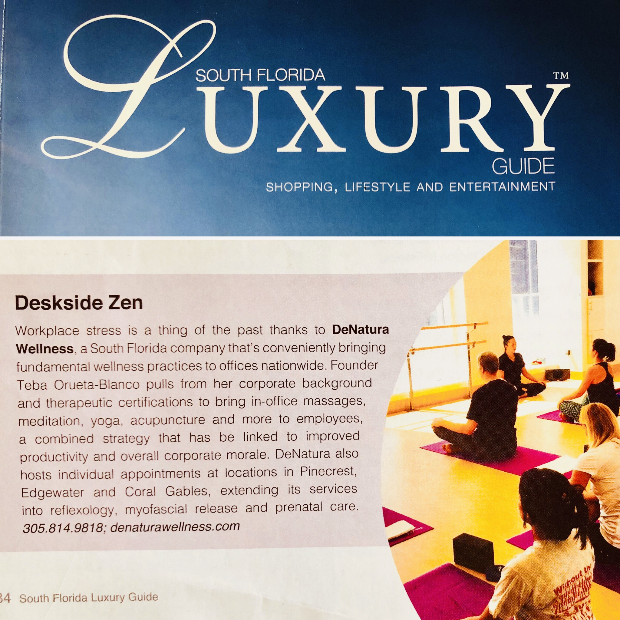 DeNatura Wellness South Florida Luxury Guide Feature